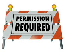 Permission Required Sign Barrier Blocked Access Approve Admissio