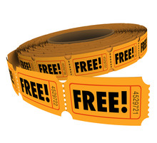 Free Complimentary Ticket Roll Enter Win Contest Raffle No Charg