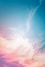 Multicolored Cloud Abstract