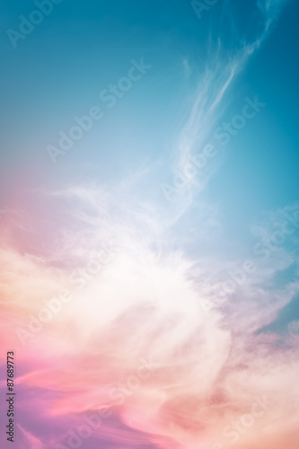 Photo  Multicolored Cloud Abstract