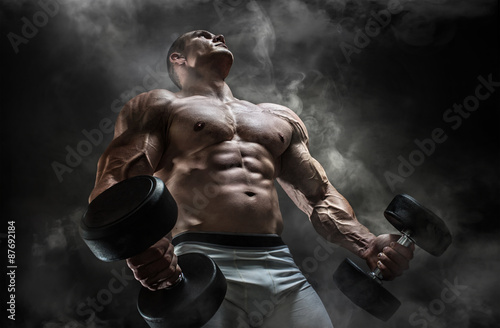 In the gym Canvas Print