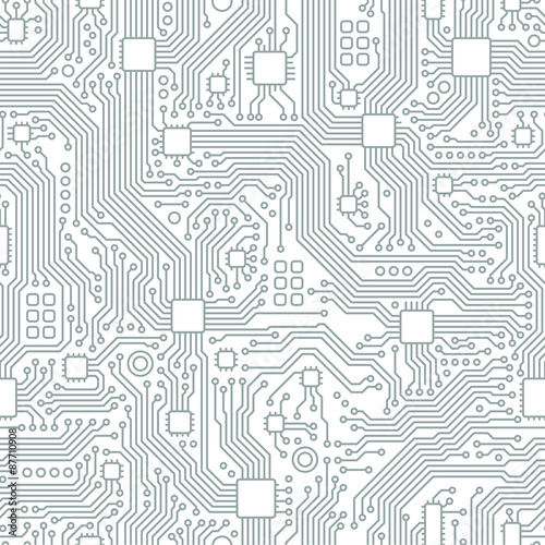 Fotografie, Obraz  Technology abstract motherboard illustration background