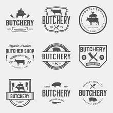 Vector Set Of Butchery Labels,...