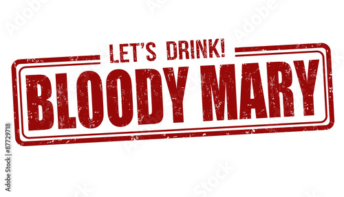Bloody Mary cocktail stamp - 87729718