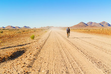 Road In The Desert In Namibia.