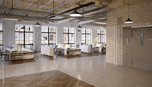 Office Agengy in Chicago Industrial Loft Apartment - Agentur Bü ...