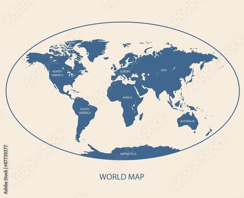 In de dag Wereldkaart WORLD MAP-ATLAS