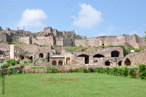 Photo  Golconda Fort in Hyderabad, India.