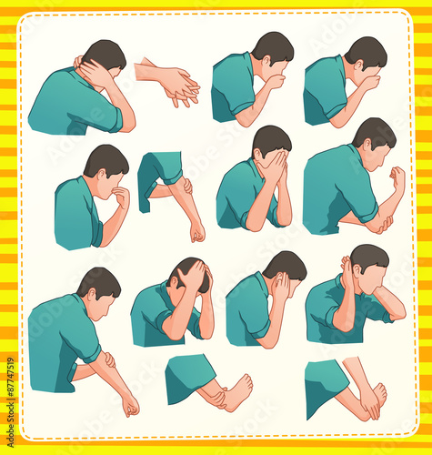 Obraz na plátne set illustration of muslim ablution position