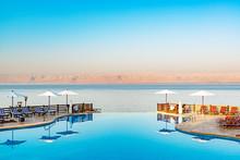 Dead Sea Viewed From East Side In Jordan.