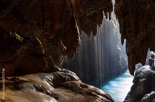 Cave with lake