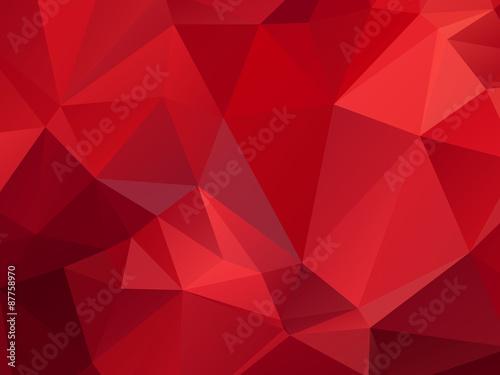 Fotografía  Red Background Triangular