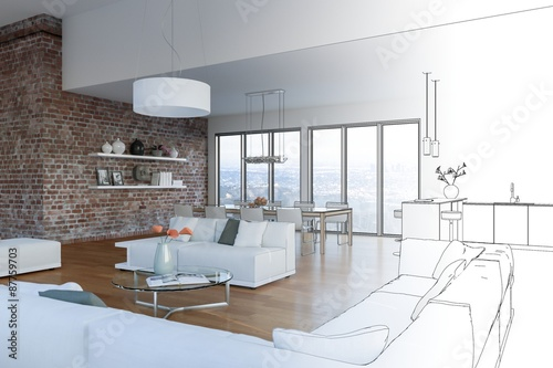 Fotografía  Entwurf modernes Loft