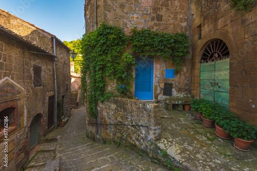 Keuken foto achterwand Smal steegje Corners of Tuscan medieval towns in Italy