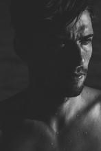 Dark Moody Portrait Of An Inte...