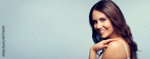 Portrait of smiling woman, with copyspace