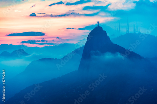 Poster Rio de Janeiro Sunset view of Rio de Janairo, Brazil