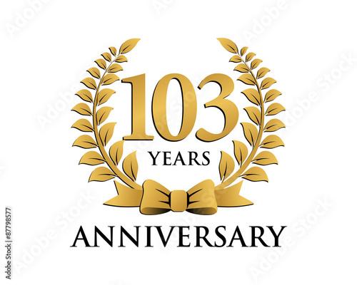Fotografia  anniversary logo ribbon wreath 103