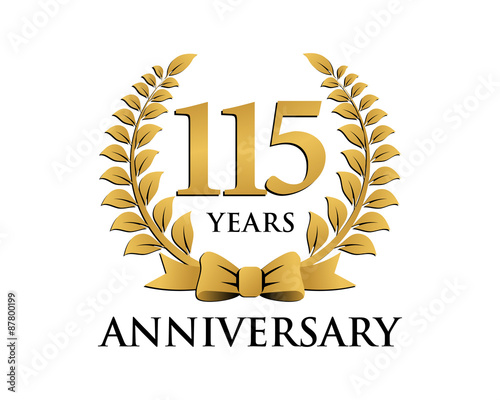 Fotografia  anniversary logo ribbon wreath 115