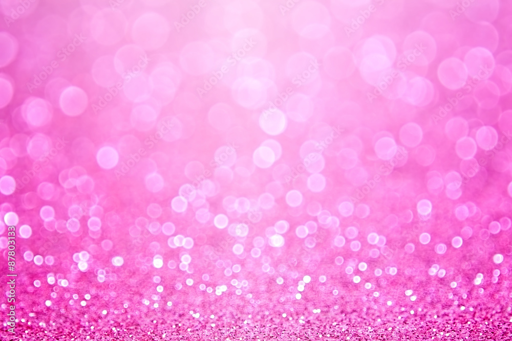 Fototapeta Pink Baby Girl Birthday Background