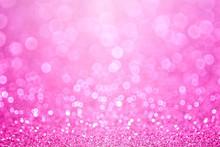 Pink Baby Girl Birthday Backgr...