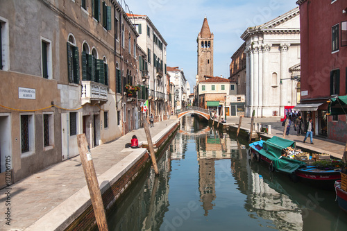 Foto auf AluDibond Stadt am Wasser VENICE, ITALY. City landscape. Buildings and its reflections in the channel