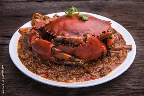 Photo  Chilli crab asia cuisine.