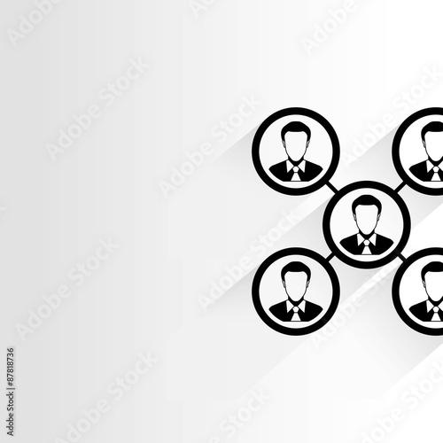 business organization chart, diagram Wallpaper Mural