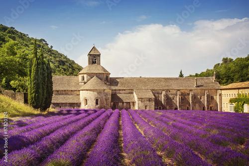 In de dag Lavendel Senanque Abbey