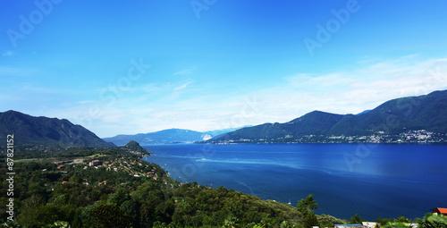 Fotografie, Obraz  Lago Maggiore at Luino facing south - ITALY