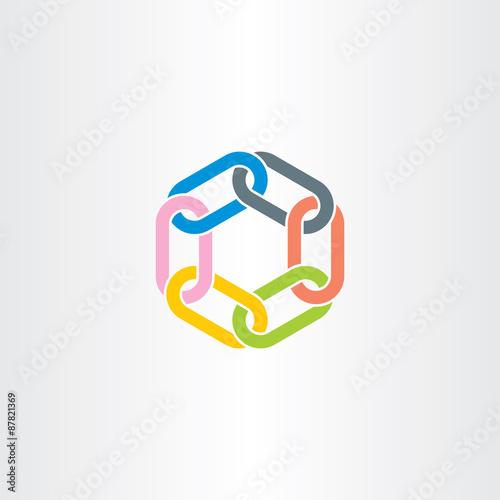 Fotografia  chain link vector symbol design element