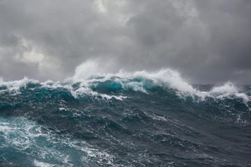 Fototapeta sea wave during storm in atlantic ocean