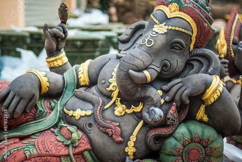 Fotografiet  Ganesh statue, India