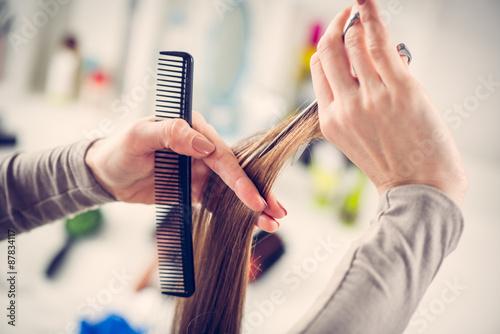 mata magnetyczna Cięcie włosów