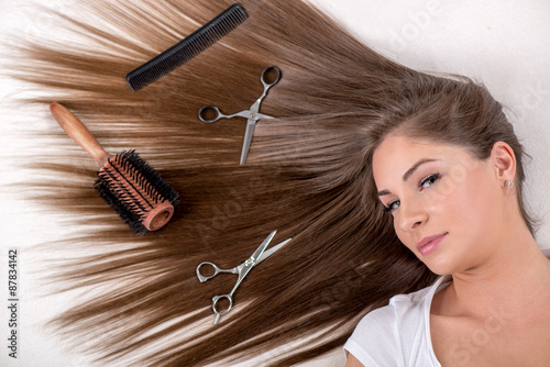 Fotografie, Obraz  Long Brown Hair