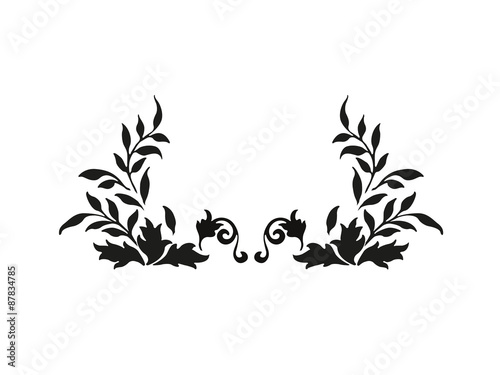 Fotografering  design floral - vector