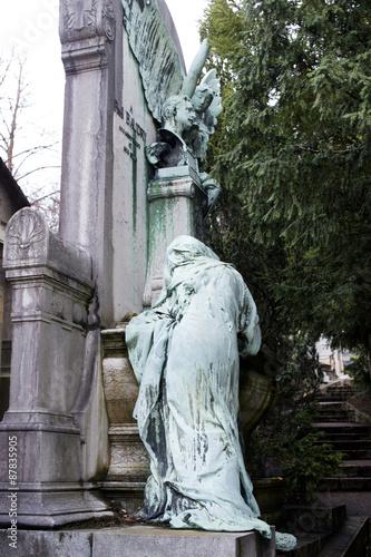 cimetière du père lachaise à parus Canvas Print
