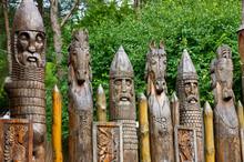 Slavic Wooden Idols