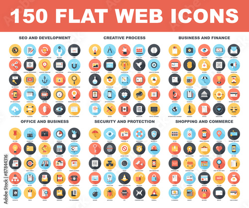 Web Icons Wall mural