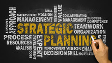 Strategic Planning Word Cloud On Blackboard