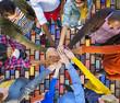 canvas print picture - Team Corporate Teamwork Collaboration Assistance Concept