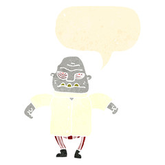 Obraz na płótnie Canvas retro cartoon halloween ogre