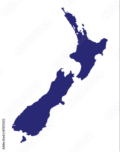 New Zealand Silhouette Wallpaper Mural