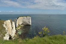 View Over Old Harry Rocks, Swanage, Dorset
