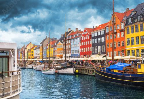 Ingelijste posters Amsterdam Copenhagen Nyhavn Harbor