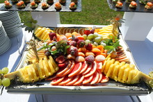 Assorted Fruit And Canapes The...
