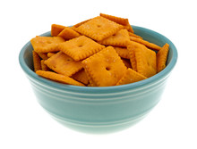 Cheese Crackers In Bowl
