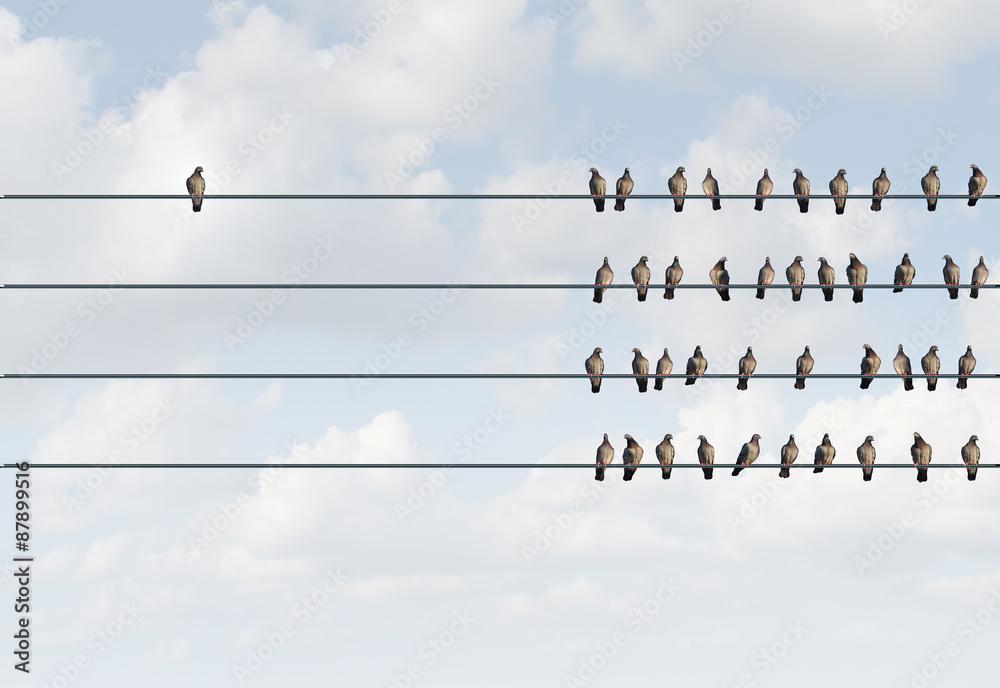 Fototapety, obrazy: Individuality Symbol