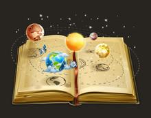 Book On Astronomy, Vector Icon