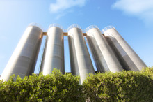 Higher Steel Silos With Green ...